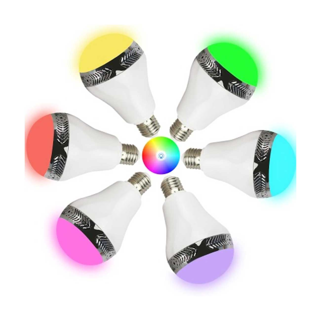 UNIVERSAL LIGHT BULB BLUETOOTH SPECTRUM LED LIGHT SPEAKER IN WHITE