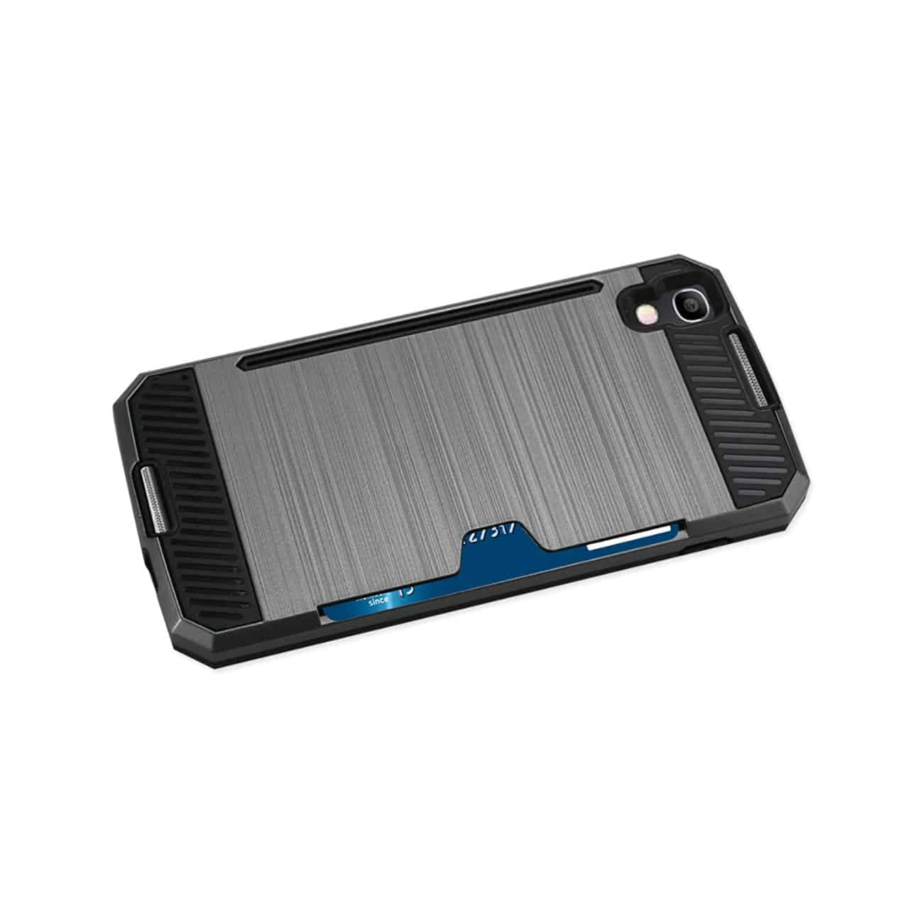 ALCATEL ONE TOUCH IDOL 4 SLIM ARMOR HYBRID CASE WITH CARD HOLDER IN GRAY