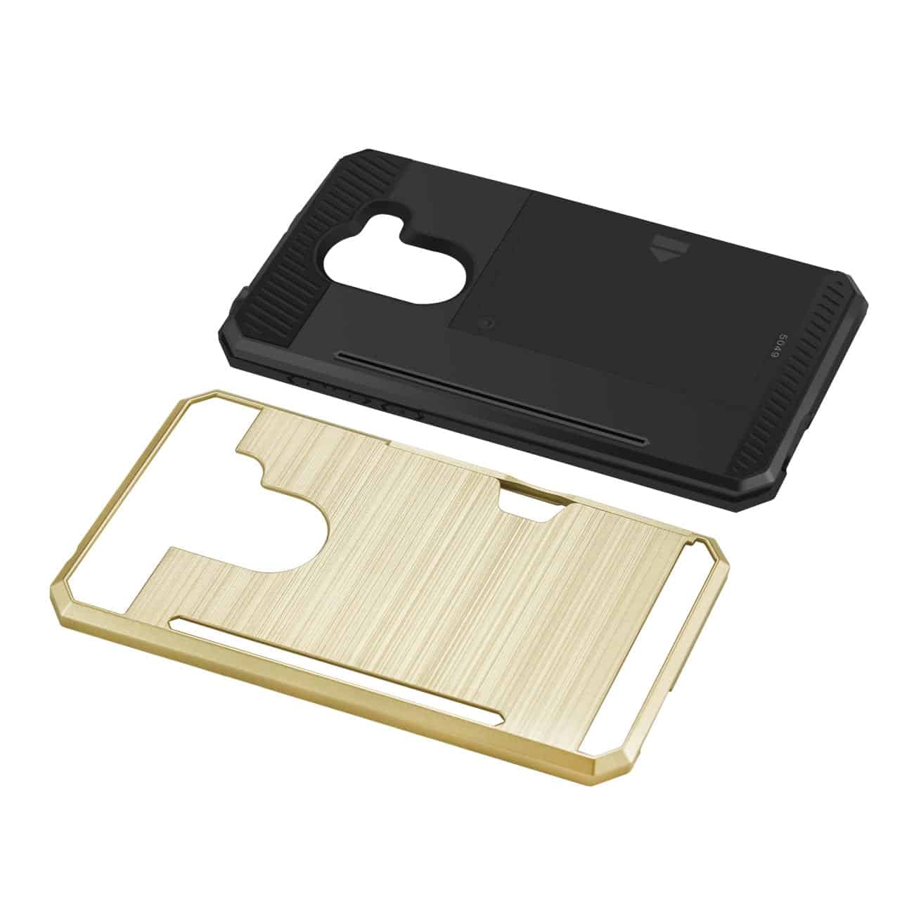 ALCATEL WALTERS SLIM ARMOR HYBRID CASE WITH CARD HOLDER IN GOLD