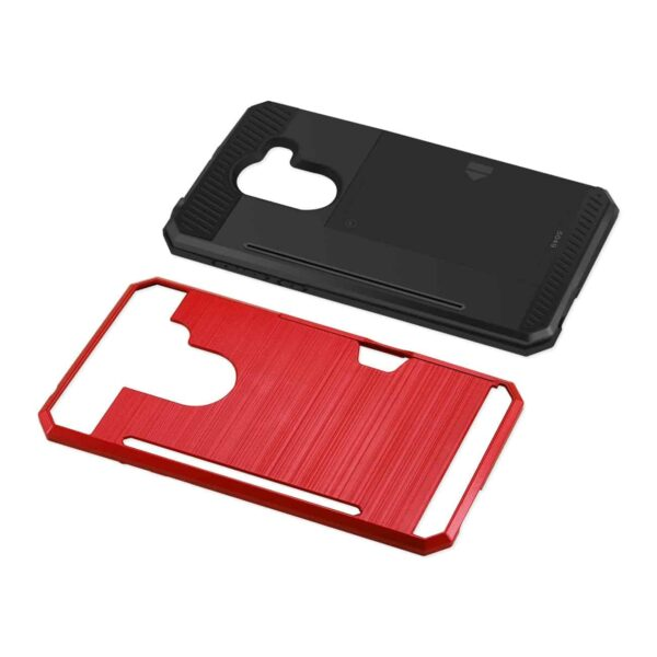 ALCATEL WALTERS SLIM ARMOR HYBRID CASE WITH CARD HOLDER IN RED