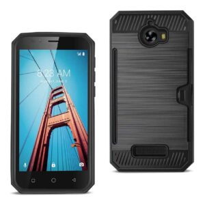COOLPAD DEFIANT SLIM ARMOR HYBRID CASE WITH CARD HOLDER IN BLACK