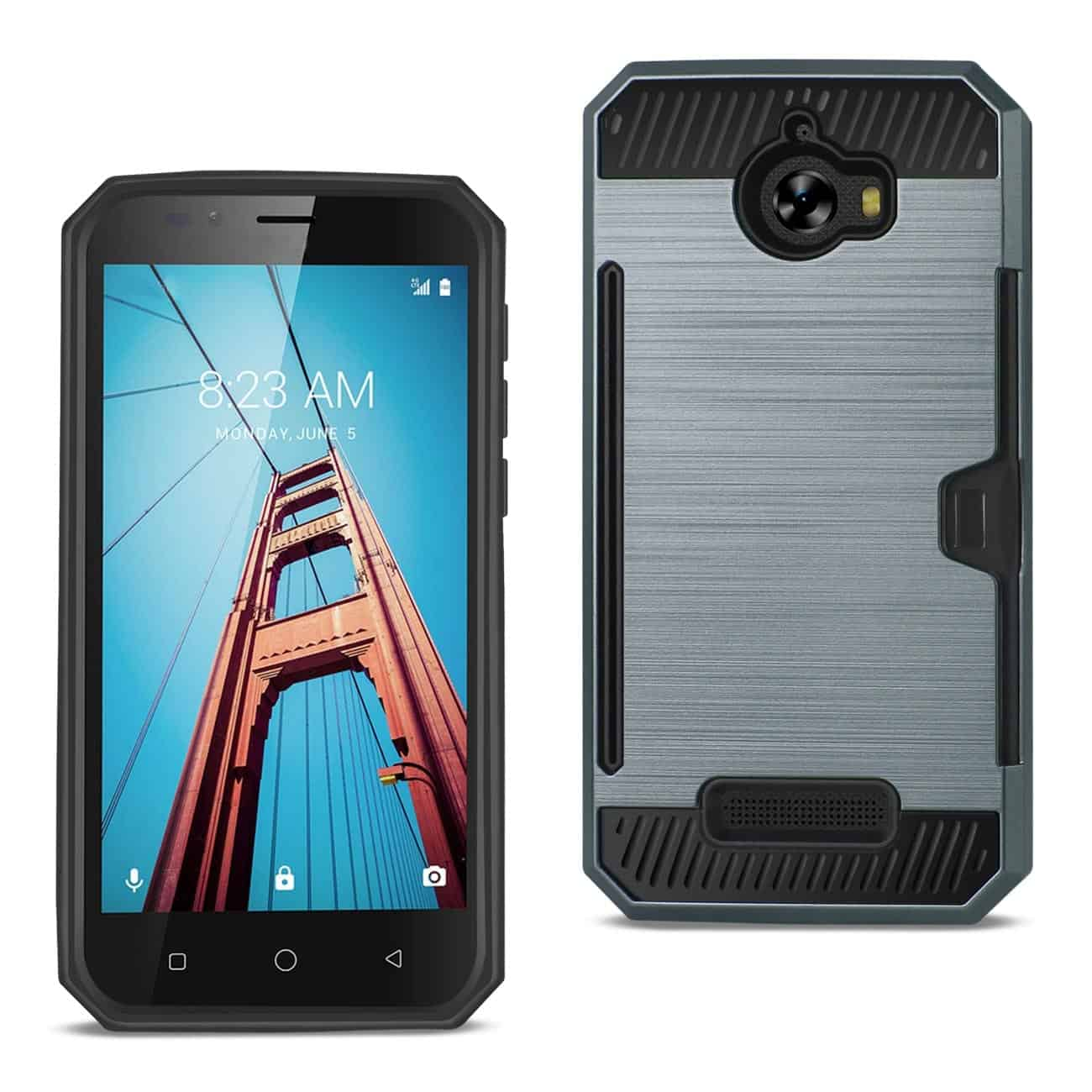 COOLPAD DEFIANT SLIM ARMOR HYBRID CASE WITH CARD HOLDER IN NAVY