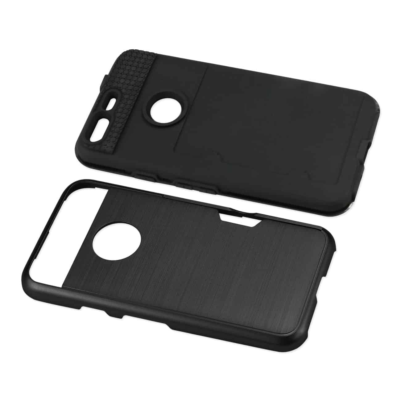 GOOGLE PIXEL SLIM ARMOR HYBRID CASE WITH CARD HOLDER IN BLACK