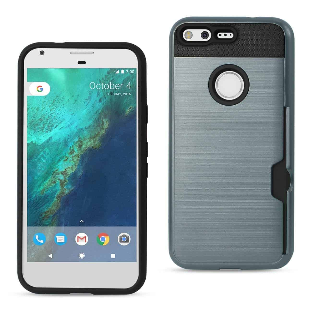 GOOGLE PIXEL SLIM ARMOR HYBRID CASE WITH CARD HOLDER IN NAVY