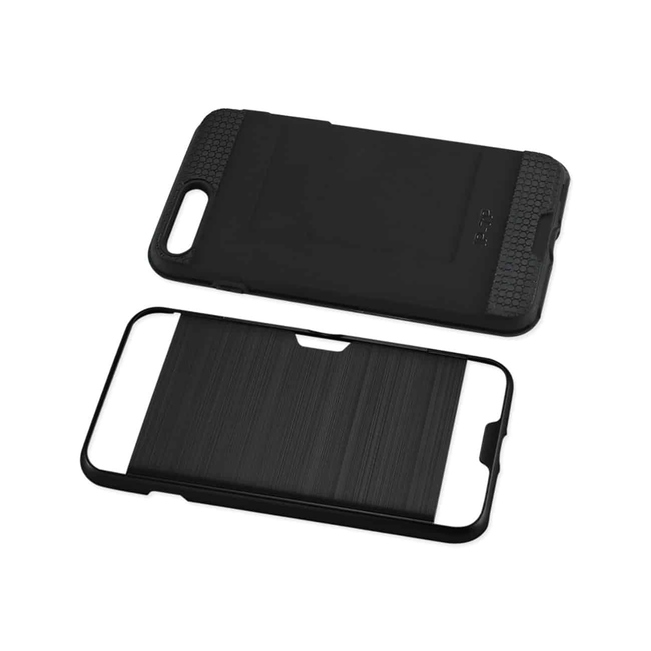 iPhone 8 Plus/ 7 Plus Slim Armor Hybrid Case With Card Holder In Black