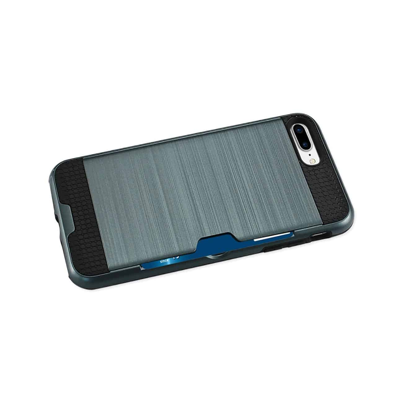 iPhone 8 Plus/ 7 Plus Slim Armor Hybrid Case With Card Holder In Navy