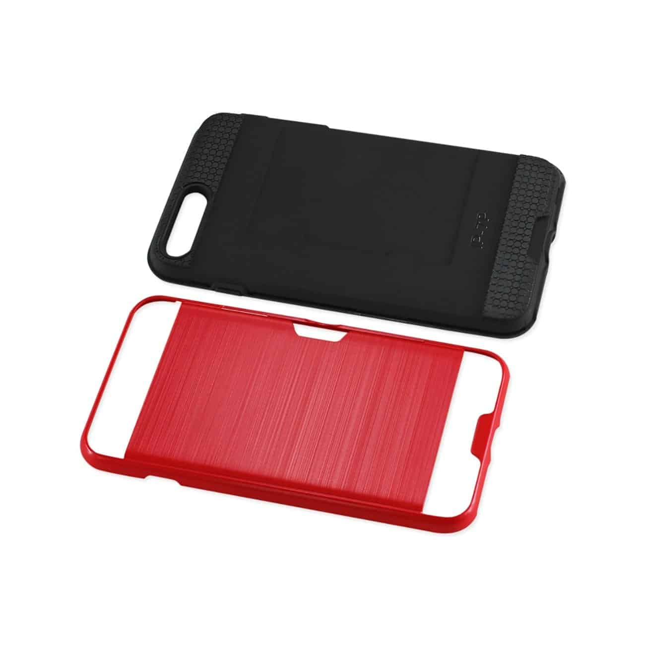 IPHONE 7 PLUS SLIM ARMOR HYBRID CASE WITH CARD HOLDER IN RED