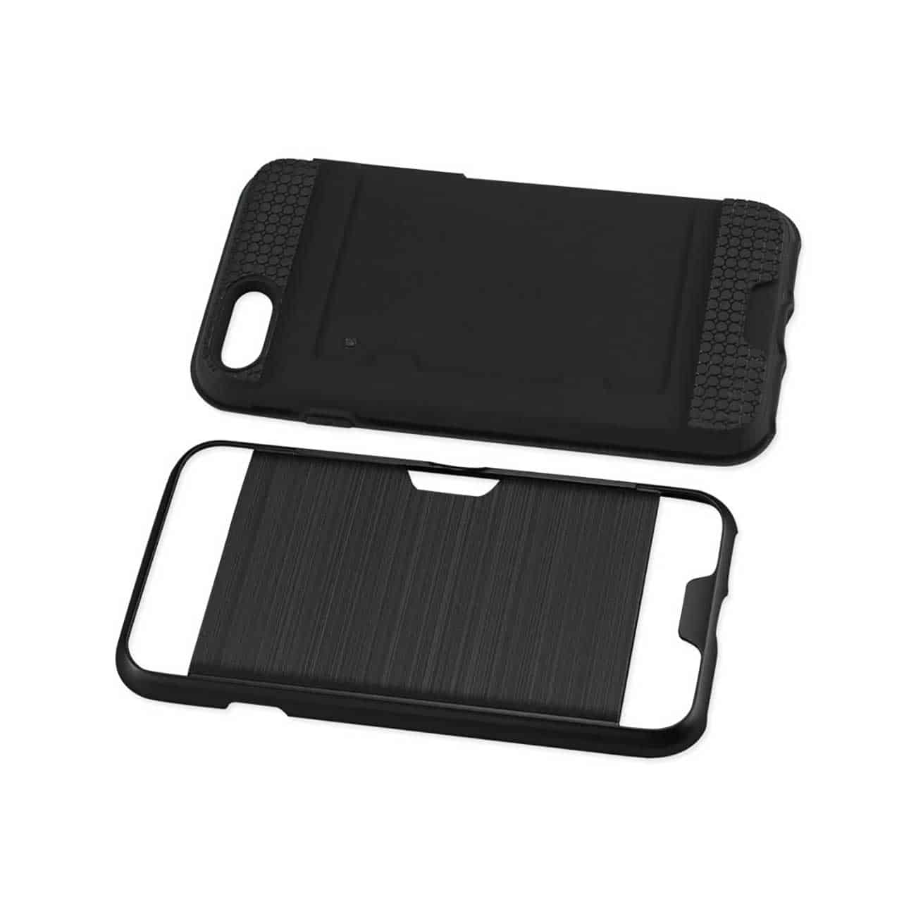 iPhone 8/ 7 Slim Armor Hybrid Case With Card Holder In Black