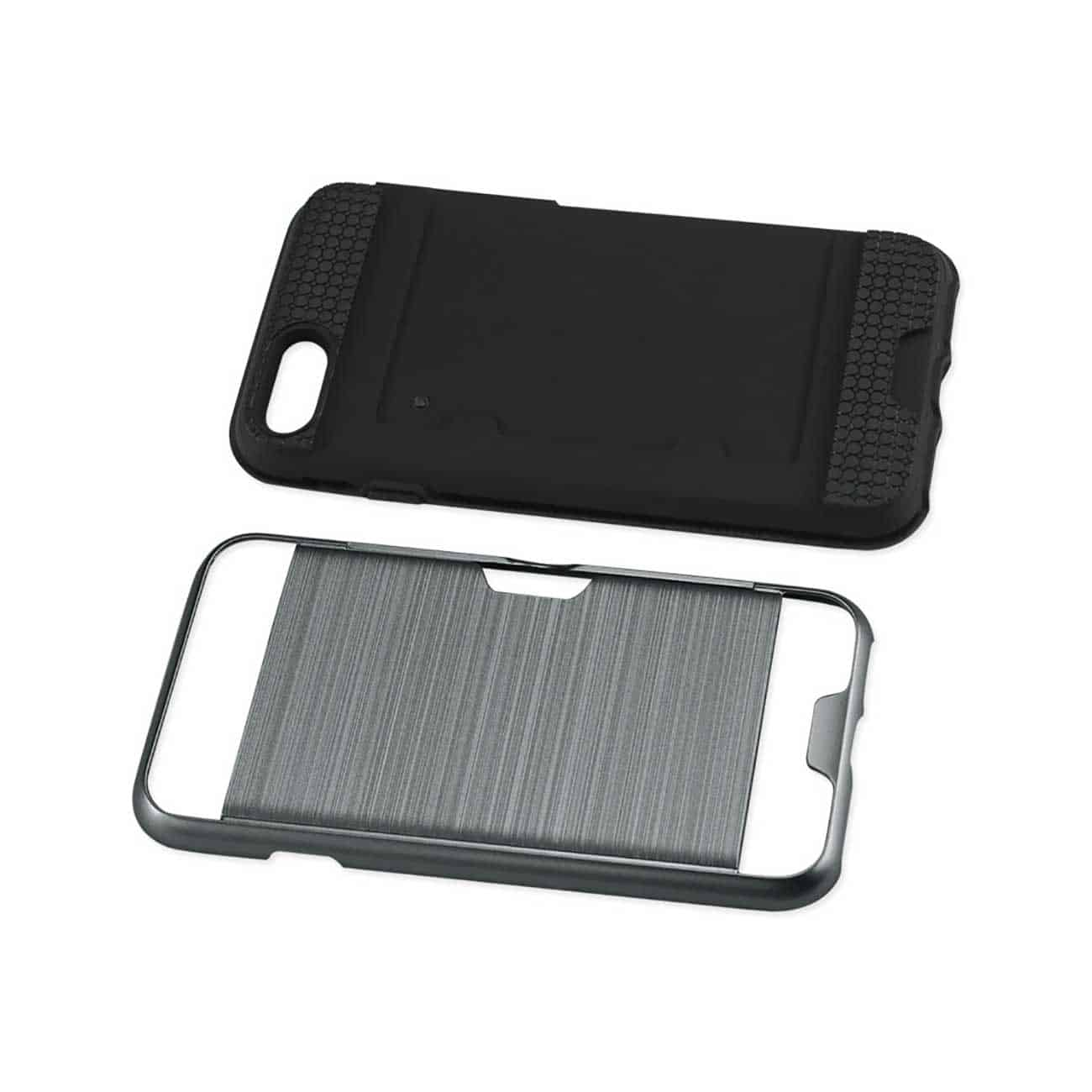 IPHONE 7/ 6/ 6S SLIM ARMOR HYBRID CASE WITH CARD HOLDER IN GRAY