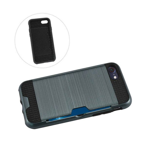 iPhone 8/ 7 Slim Armor Hybrid Case With Card Holder In Navy
