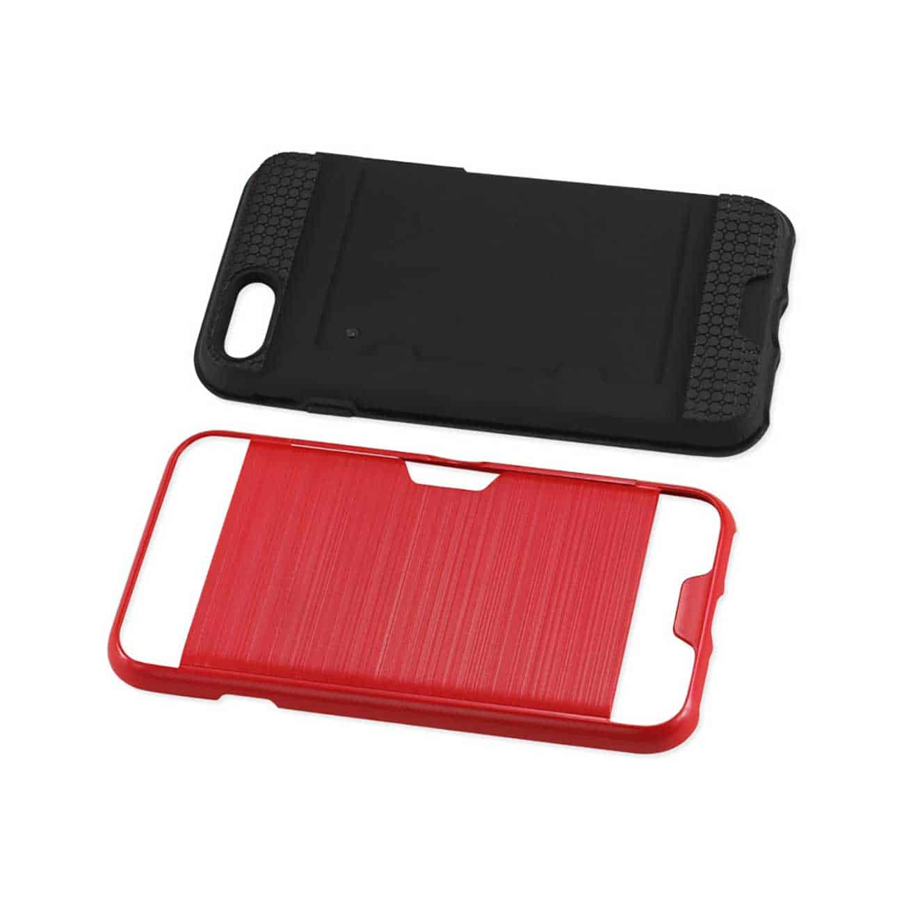 iPhone 8/ 7 Slim Armor Hybrid Case With Card Holder In Red