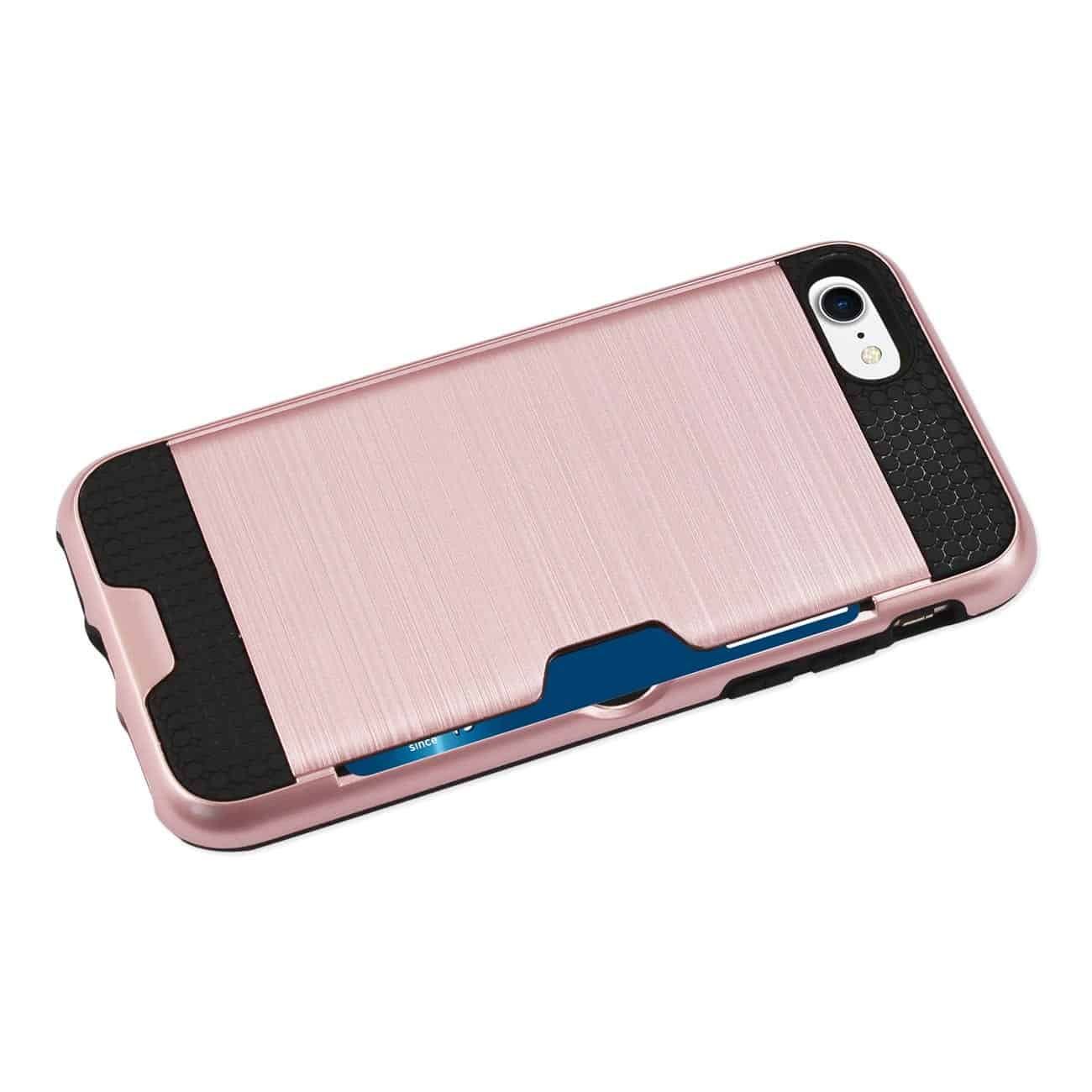 IPHONE 7 SLIM ARMOR HYBRID CASE WITH CARD HOLDER IN ROSE GOLD