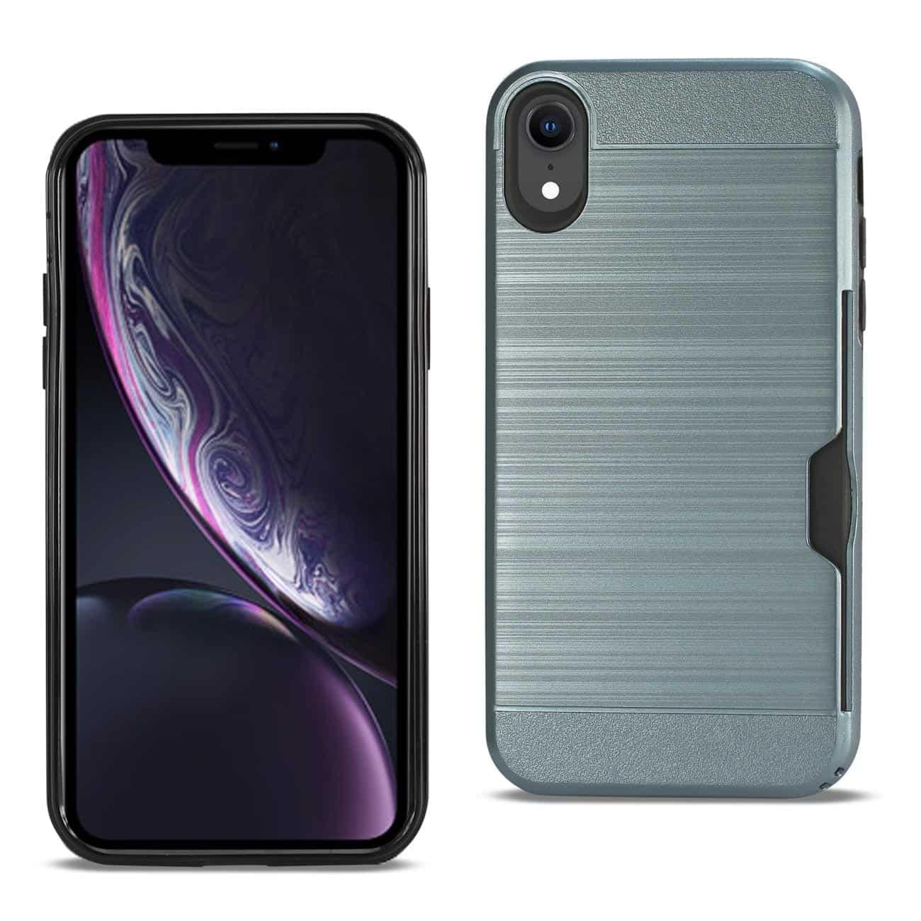 iPhone XR Slim Armor Hybrid Case With Card Holder In Navy