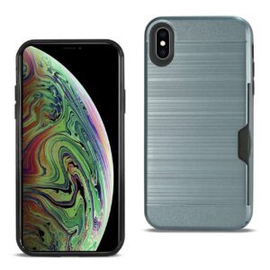 iPhone XS Max Slim Armor Hybrid Case With Card Holder In Navy