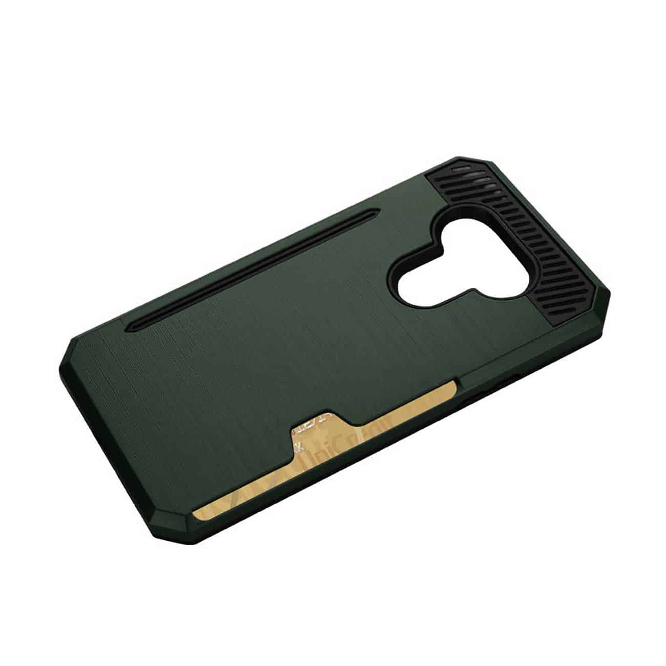 LG G5 SLIM ARMOR HYBRID CASE WITH CARD HOLDER IN GREEN