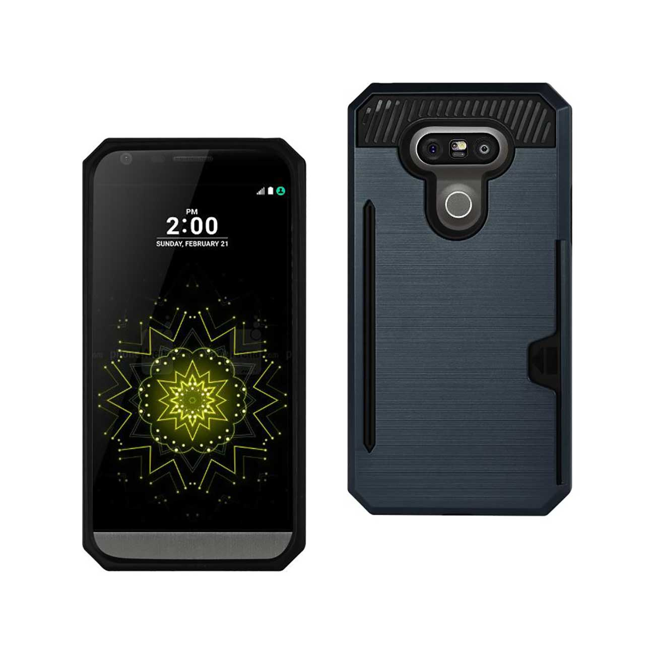 LG G5 SLIM ARMOR HYBRID CASE WITH CARD HOLDER IN NAVY