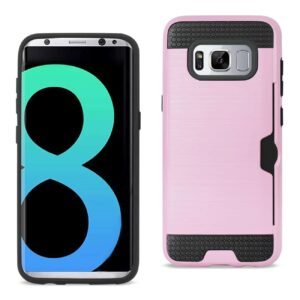 SAMSUNG GALAXY S8 EDGE/ S8 PLUS SLIM ARMOR HYBRID CASE WITH CARD HOLDER IN PINK