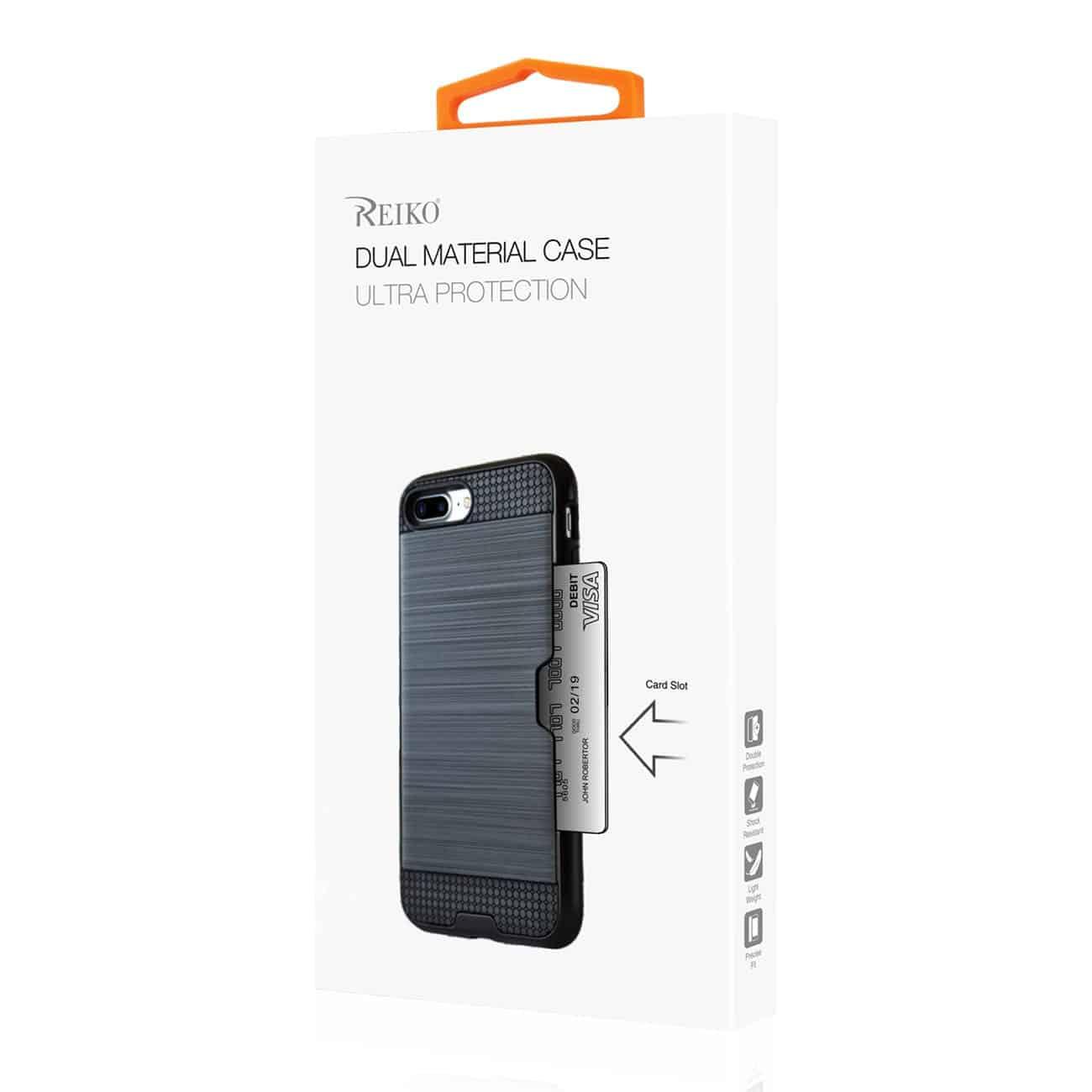 Samsung J3(2018) Slim Armor Hybrid Case With Card Holder In Black