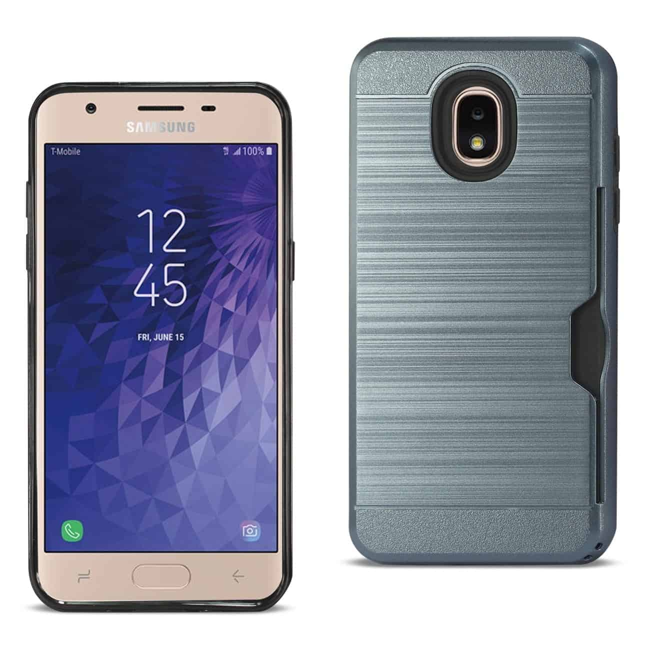 Samsung J3(2018) Slim Armor Hybrid Case With Card Holder In Navy