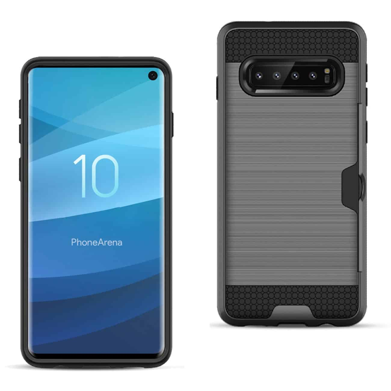 SAMSUNG GALAXY S10 Slim Armor Hybrid Case With Card Holder In Gray