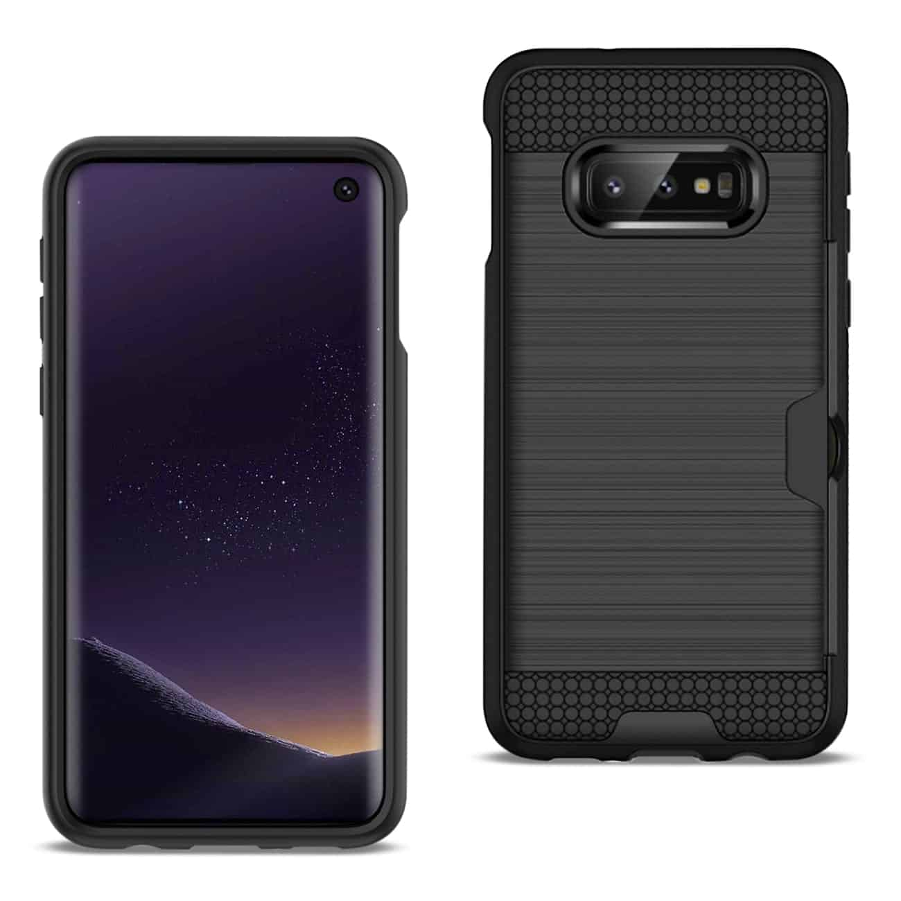 SAMSUNG GALAXY S10 Lite(S10e) Slim Armor Hybrid Case With Card Holder In Black