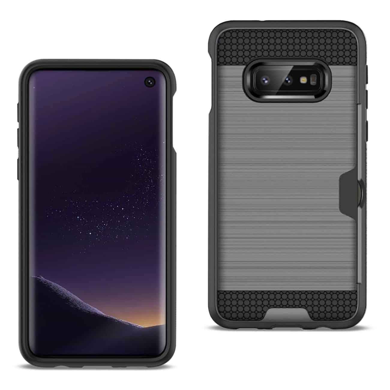 SAMSUNG GALAXY S10 Lite(S10e) Slim Armor Hybrid Case With Card Holder In Gray