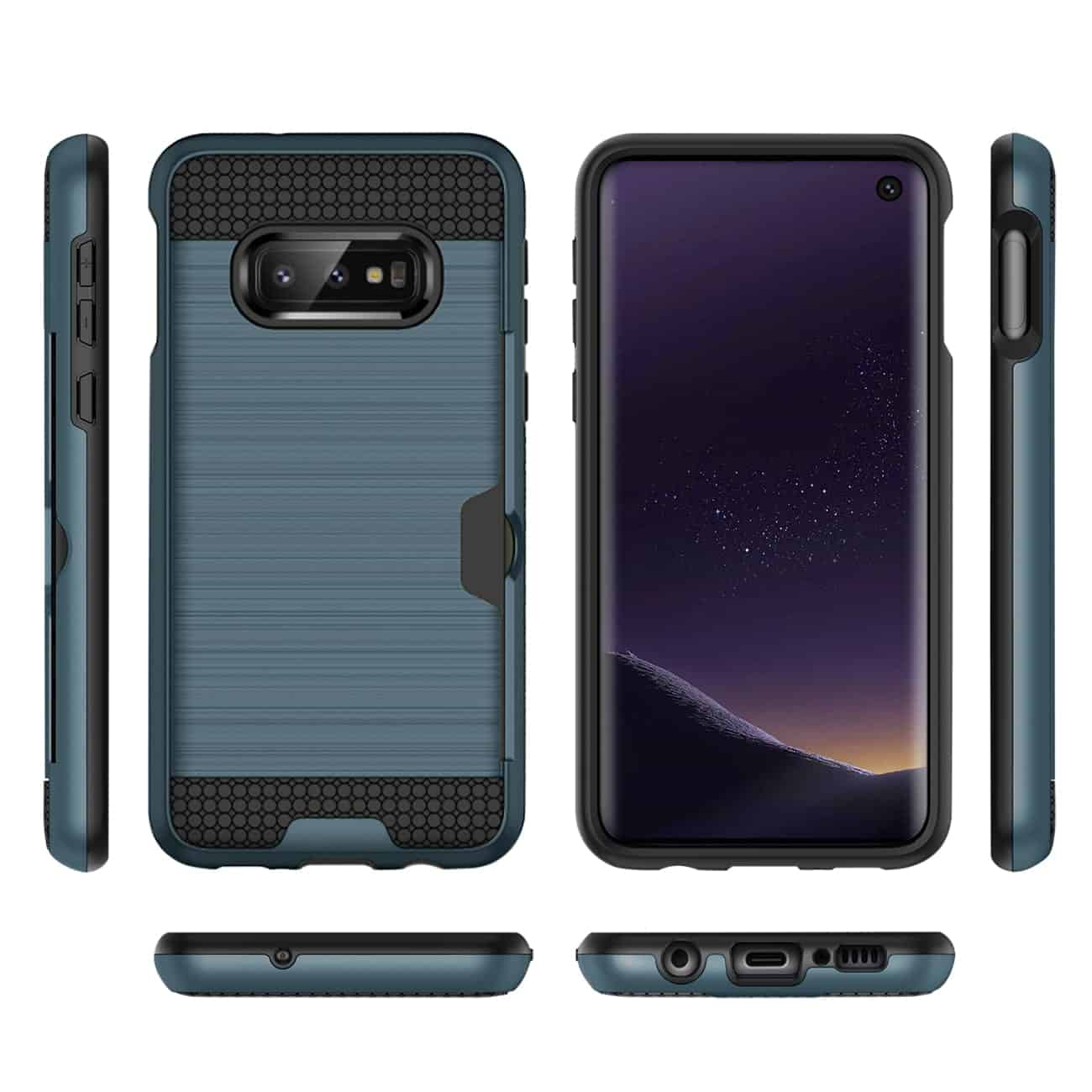 SAMSUNG GALAXY S10 Lite(S10e) Slim Armor Hybrid Case With Card Holder In Navy