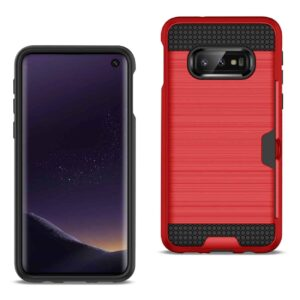 SAMSUNG GALAXY S10 Lite(S10e) Slim Armor Hybrid Case With Card Holder In Red