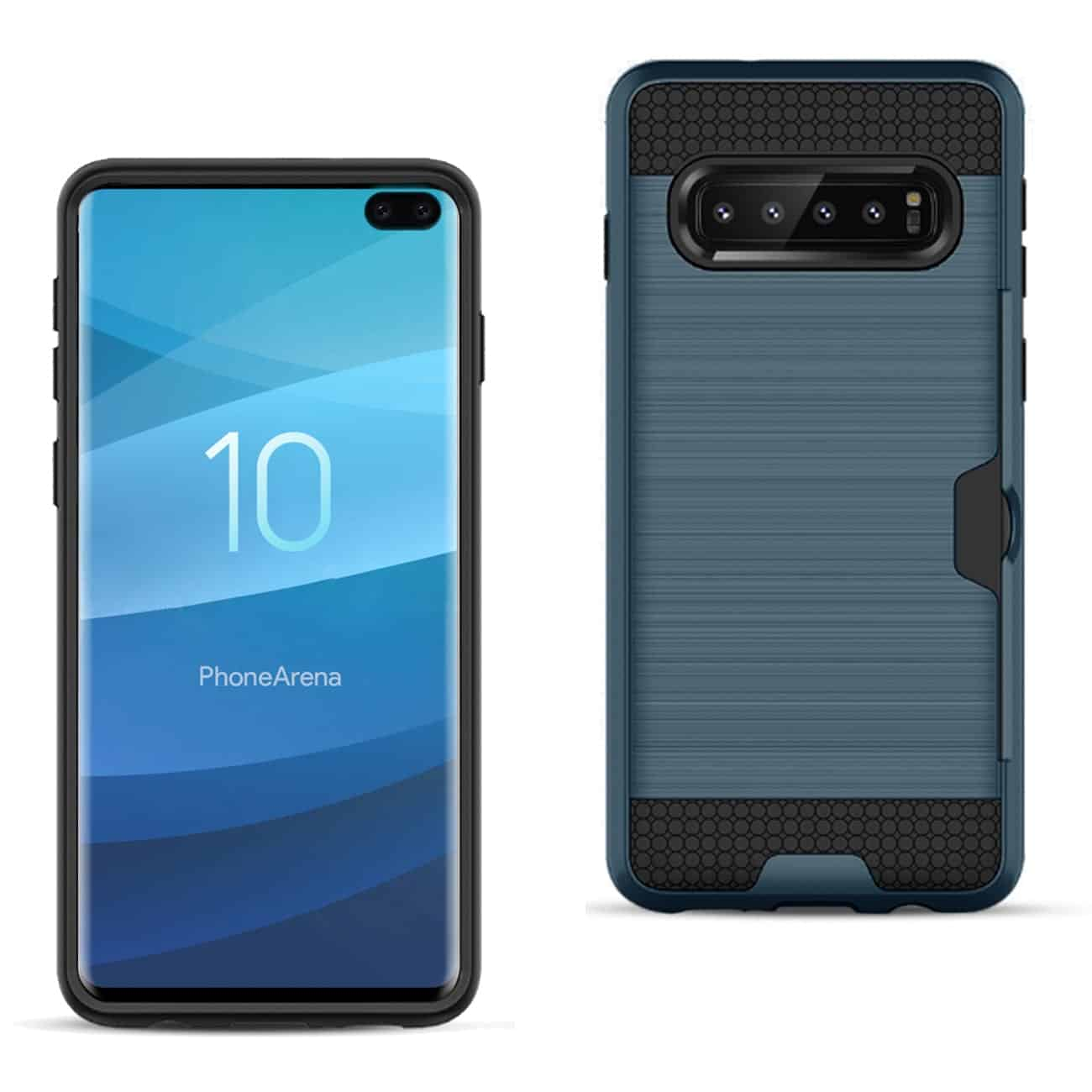 SAMSUNG GALAXY S10 Plus Slim Armor Hybrid Case With Card Holder In Navy