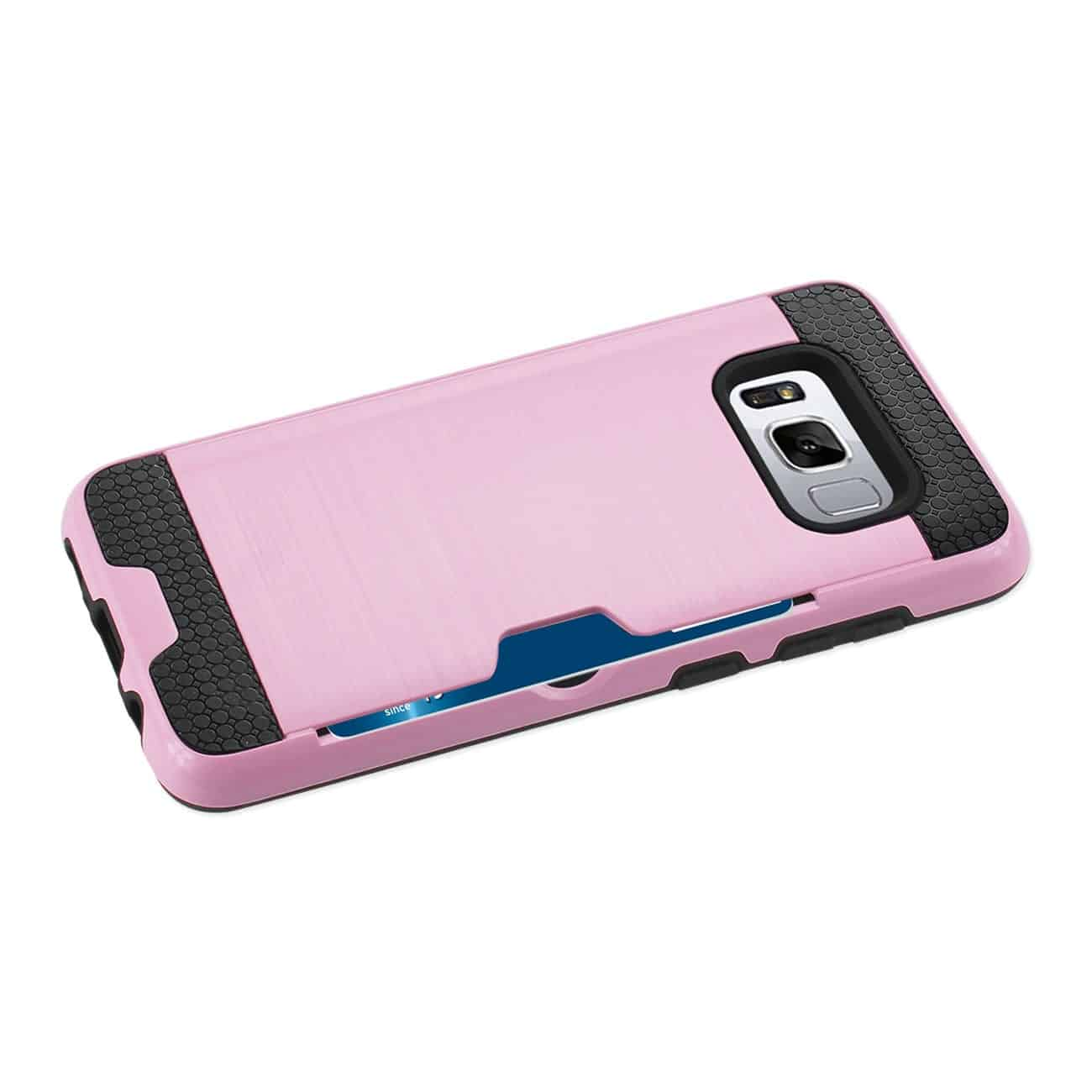 SAMSUNG GALAXY S8/ SM SLIM ARMOR HYBRID CASE WITH CARD HOLDER IN PINK