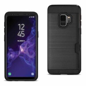 Samsung Galaxy S9 Slim Armor Hybrid Case With Card Holder In Black