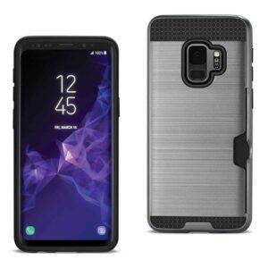 Samsung Galaxy S9 Slim Armor Hybrid Case With Card Holder In Gray