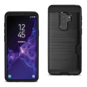Samsung Galaxy S9 Plus Slim Armor Hybrid Case With Card Holder In Black