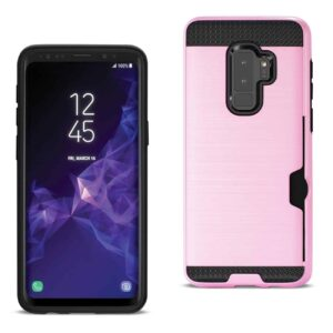 Samsung Galaxy S9 Plus Slim Armor Hybrid Case With Card Holder In Pink