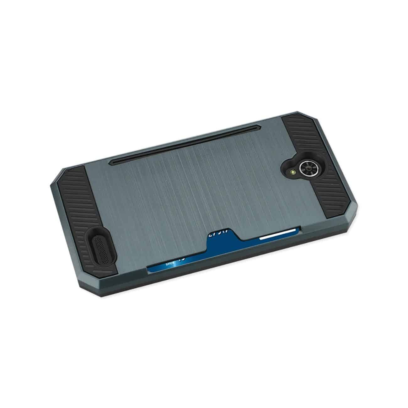 ZTE WARP 7/ Z959 SLIM ARMOR HYBRID CASE WITH CARD HOLDER IN NAVY
