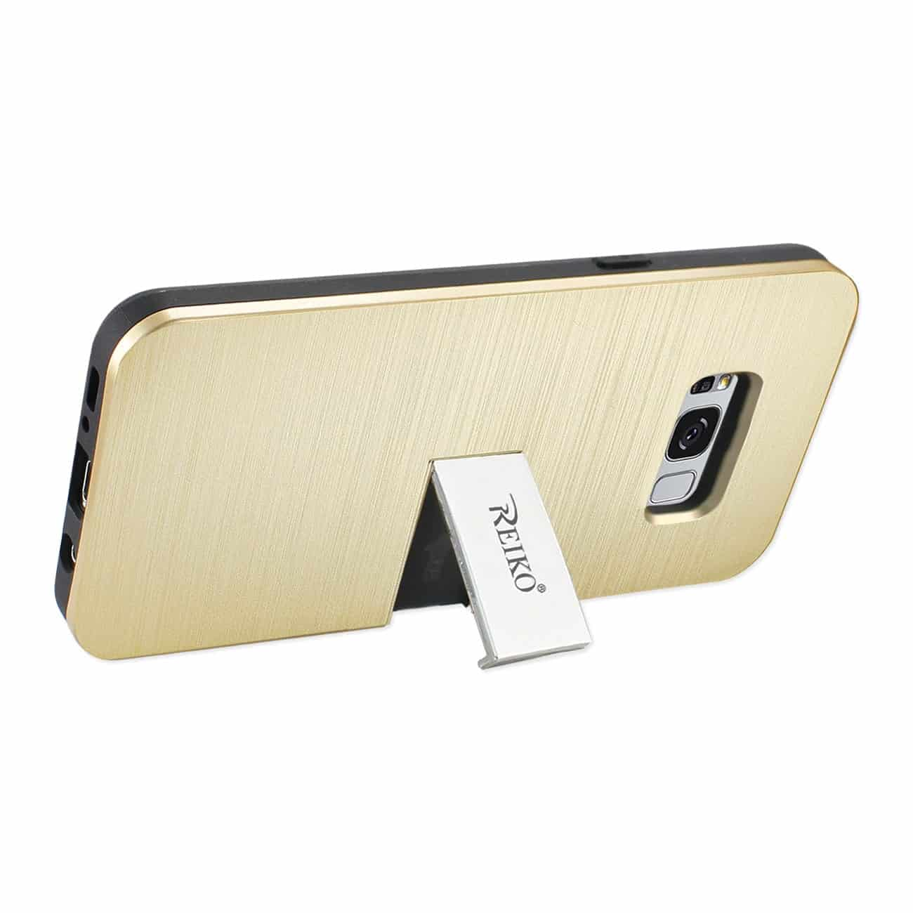 SAMSUNG S8 EDGE/ S8 PLUS SLIM ARMOR HYBRID CASE WITH CARD HOLDER AND KICKSTAND IN GOLD