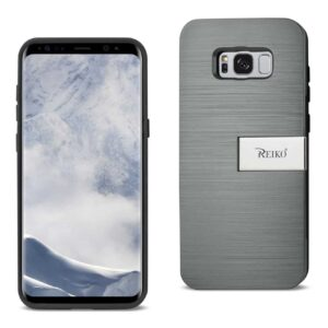 SAMSUNG S8 EDGE/ S8 PLUS SLIM ARMOR HYBRID CASE WITH CARD HOLDER AND KICKSTAND IN GREY
