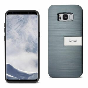 SAMSUNG S8 EDGE/ S8 PLUS SLIM ARMOR HYBRID CASE WITH CARD HOLDER AND KICKSTAND IN NAVY