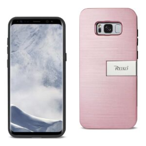 SAMSUNG S8 EDGE/ S8 PLUS SLIM ARMOR HYBRID CASE WITH CARD HOLDER AND KICKSTAND IN ROSE GOLD