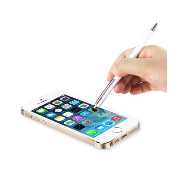 STYLUS TOUCH SCREEN WITH INK PEN IN WHITE