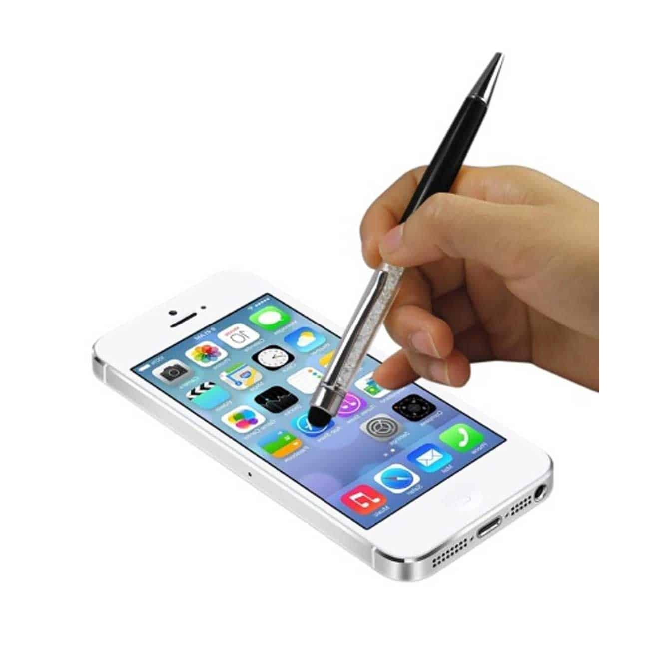 CRYSTAL STYLUS TOUCH SCREEN WITH INK PEN IN BLACK
