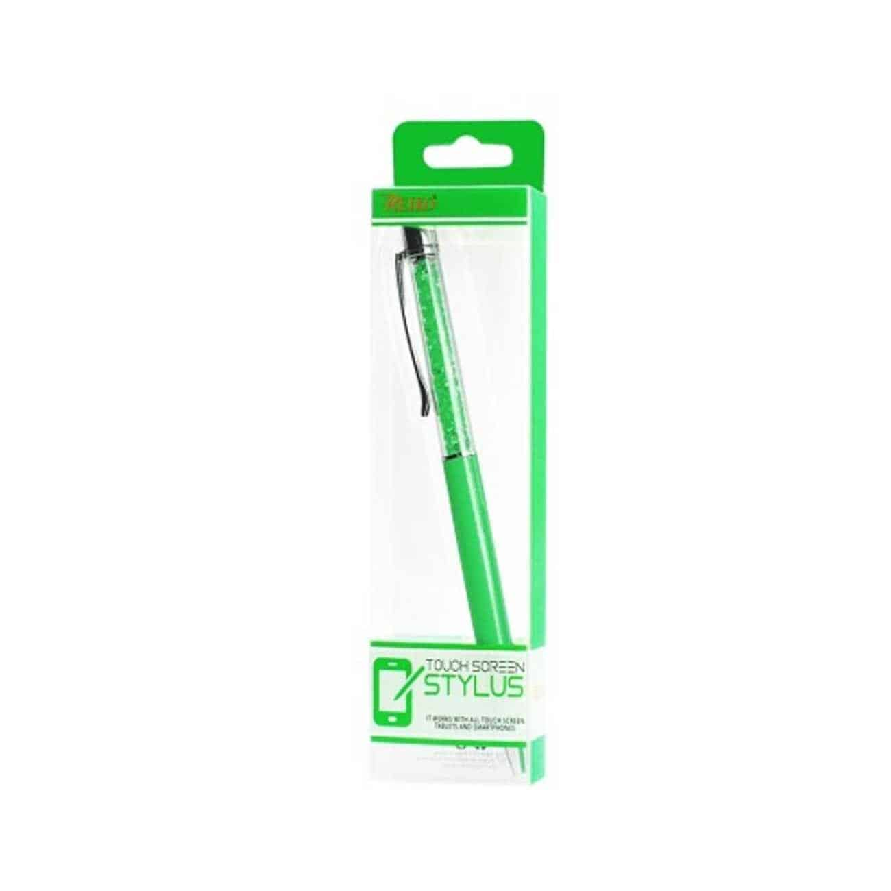 CRYSTAL STYLUS TOUCH SCREEN WITH INK PEN IN GREEN