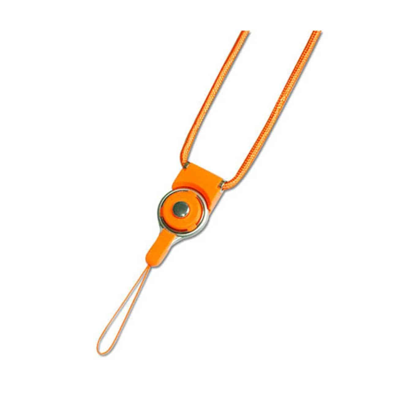 LONG LANYARD STRAP WITH CLIP IN ORANGE