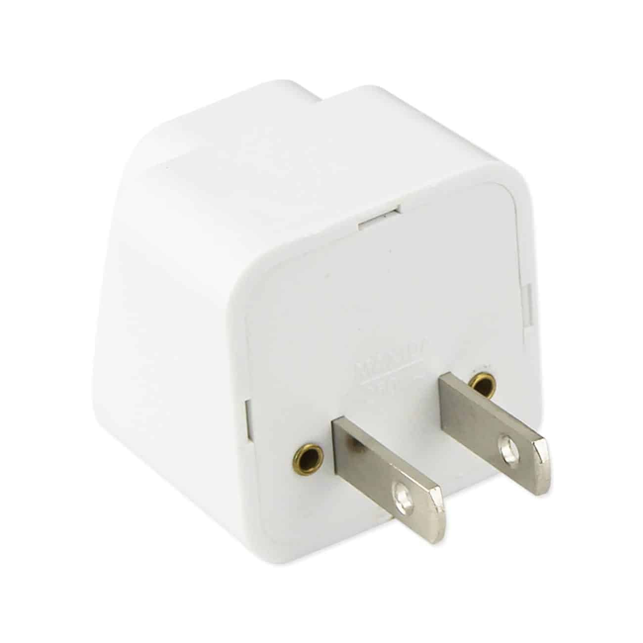 UNIVERSAL TRAVEL ADAPTER CONVERTER-UK/EU/AU TO US TRAVEL PLUG IN WHITE