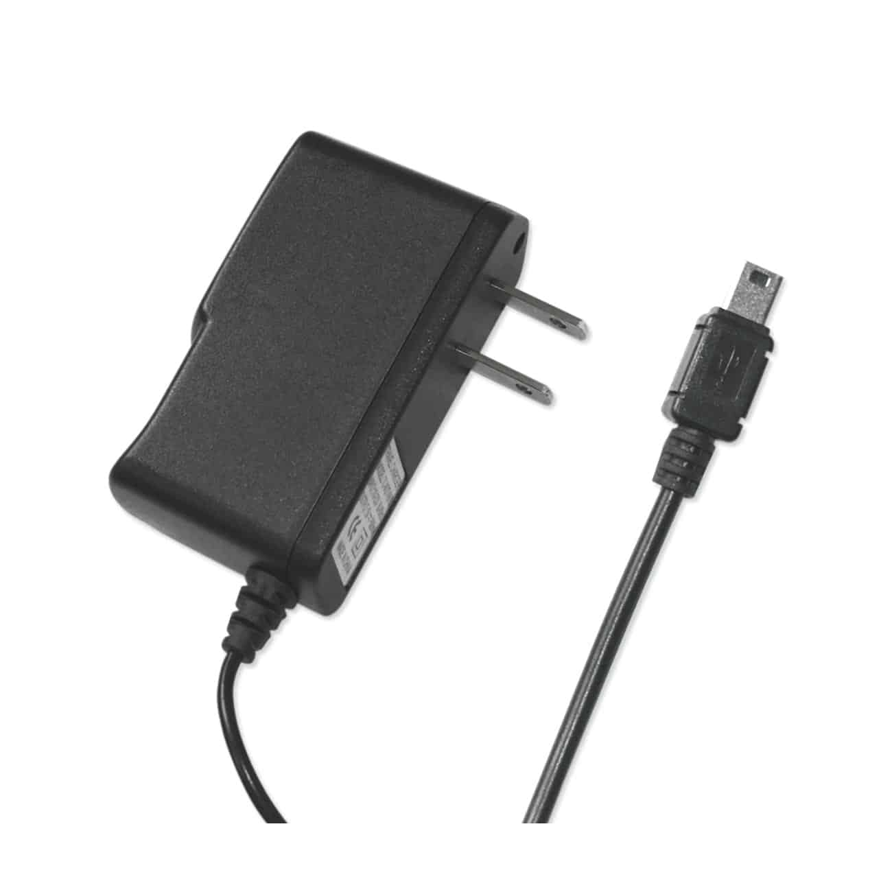 PORTABLE MOTOROLA RAZR V3 USB TRAVEL ADAPTER CHARGER WITH BUILT IN CABLE IN BLACK