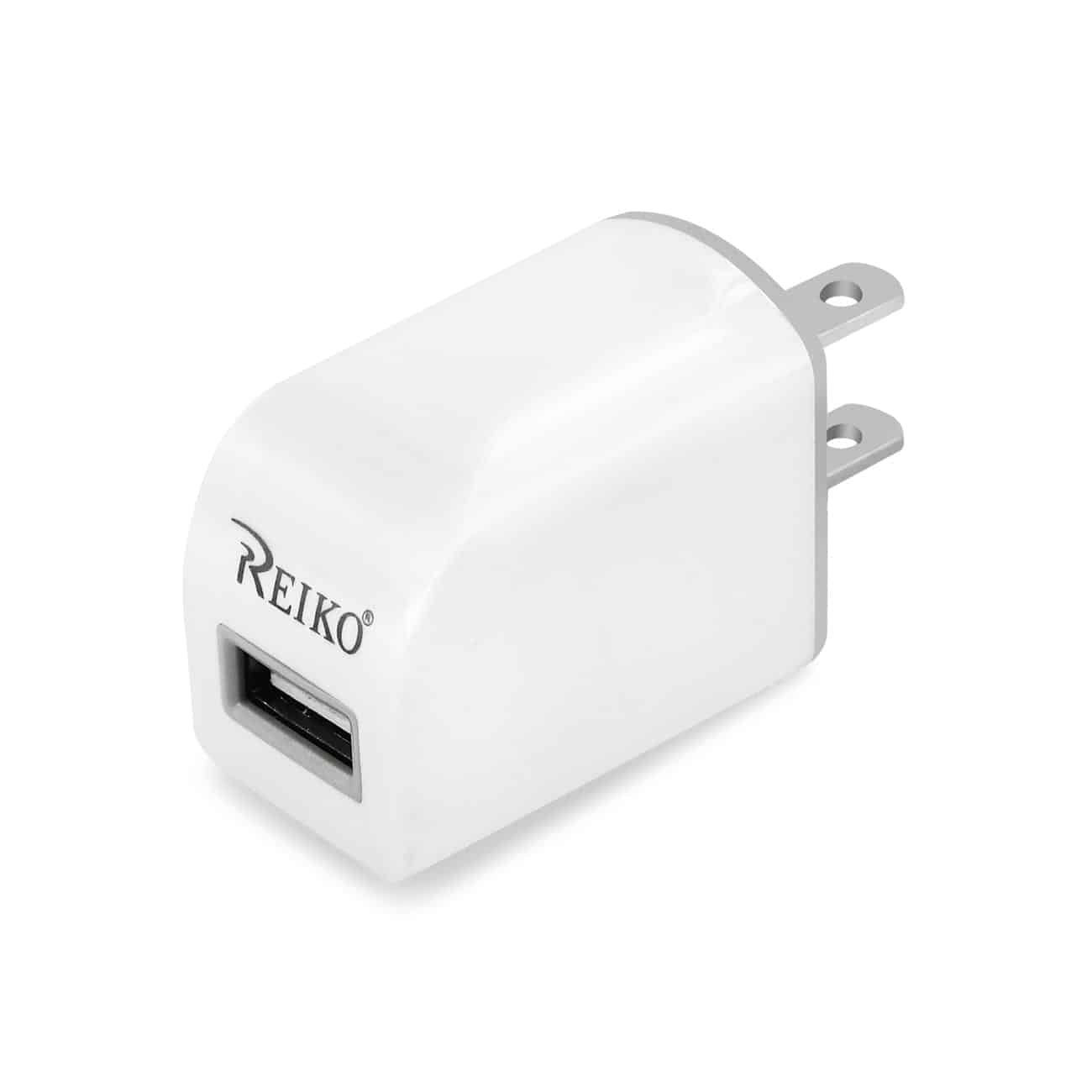 2.1A TYPE C TRAVEL CHARGER WITH DATA CABLE IN WHITE