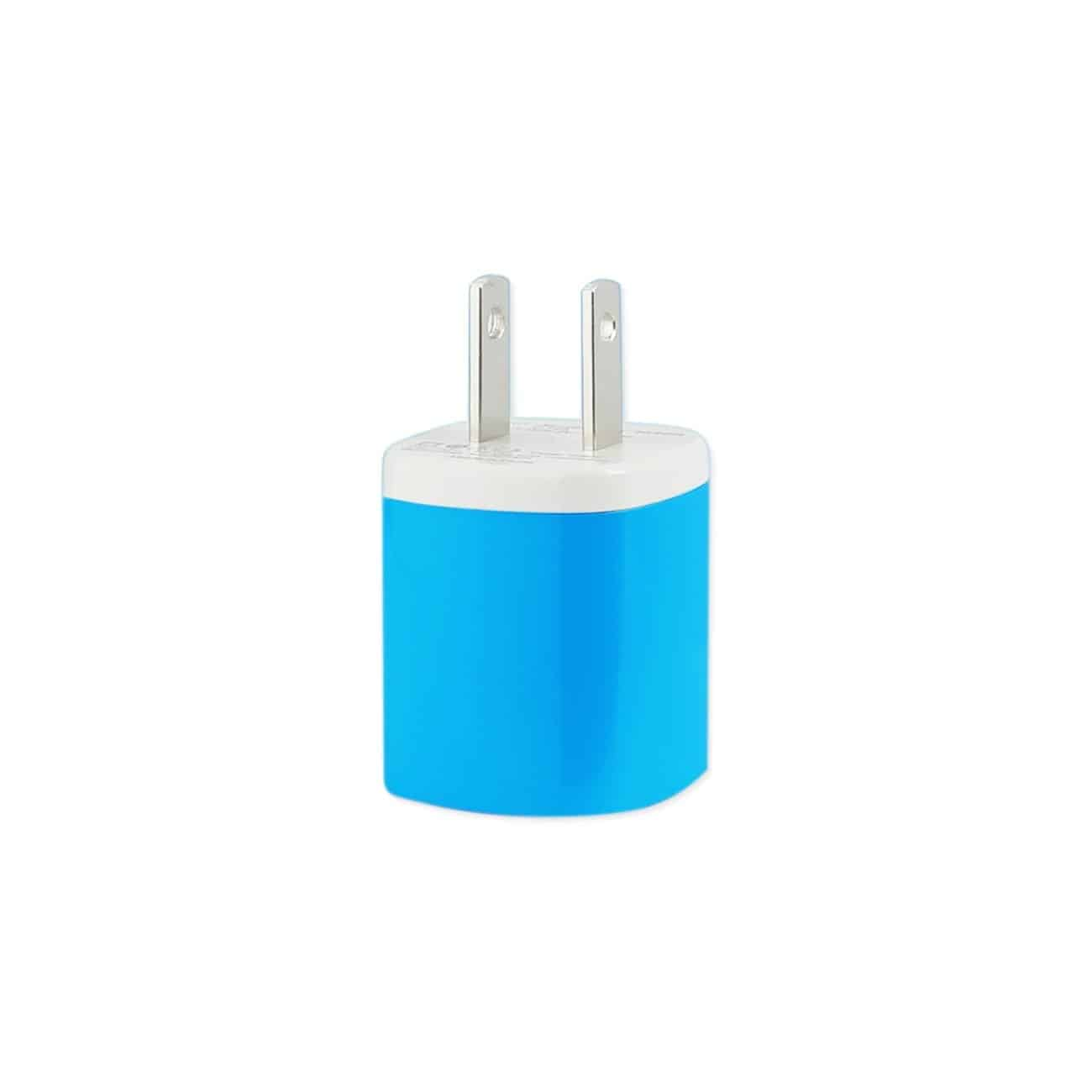 1 AMP WALL USB TRAVEL ADAPTER CHARGER IN BLUE