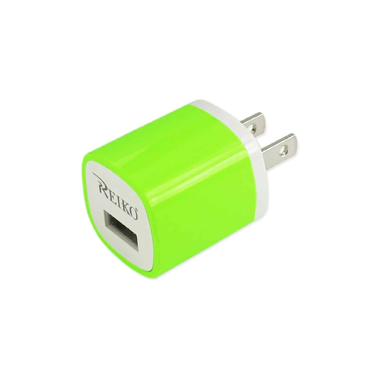 1 AMP WALL USB TRAVEL ADAPTER CHARGER IN GREEN