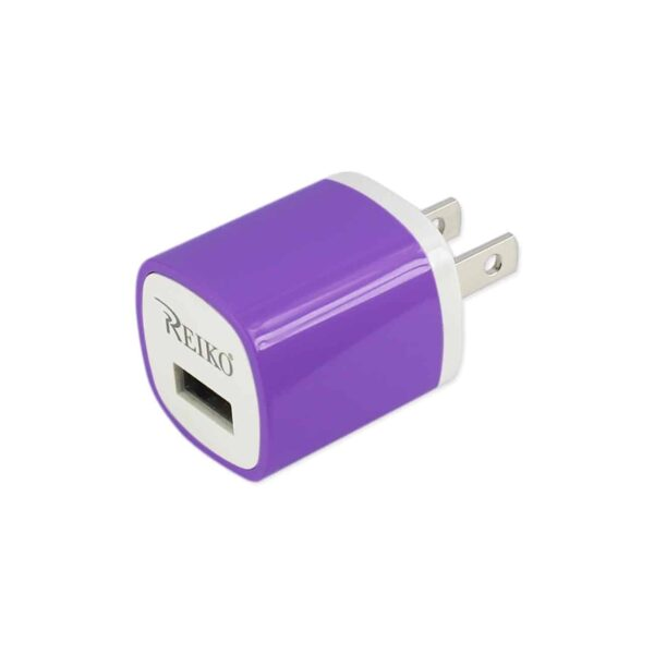 1 AMP WALL USB TRAVEL ADAPTER CHARGER IN PURPLE