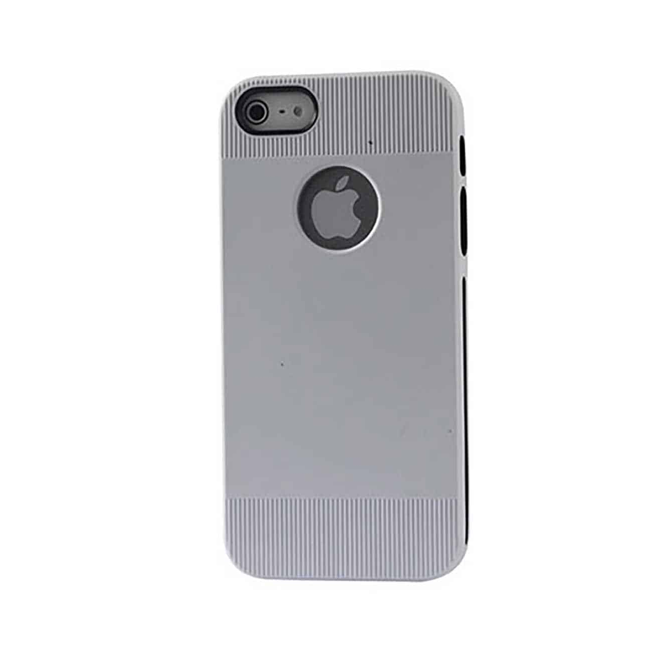 IPHONE SE/ 5S/ 5 DUAL COLOR CASE WITH RIDGES IN WHITE BLACK